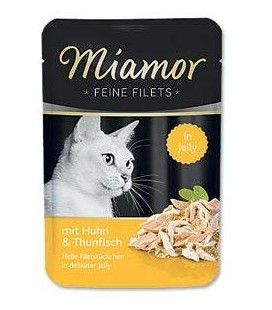 Miamor Cat Filet kapsa kuře+tuňák v želé 100g